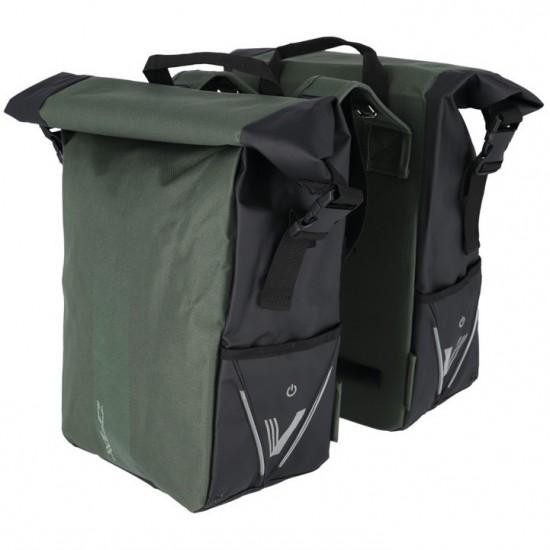 Coburi XLC V-light Rolltop duble verde-negru