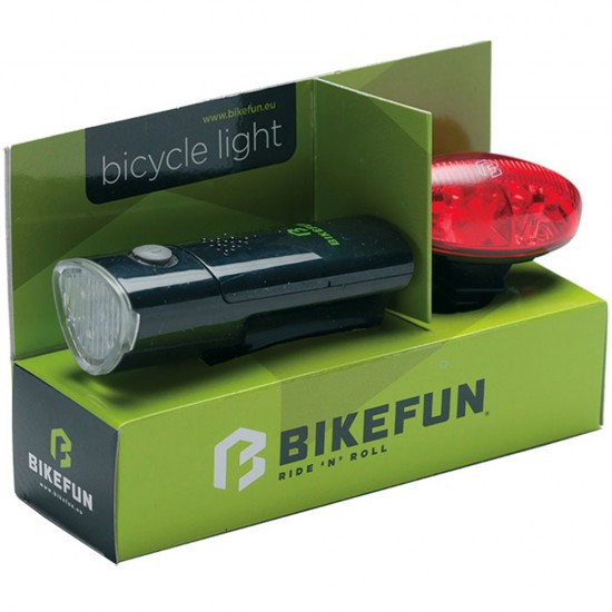 Lumini set led fata si spate Bikefun Link