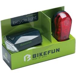 Lumini set led fata si spate Bikefun Square