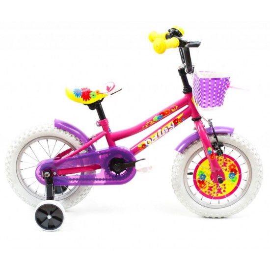 Bicicleta copii DHS 1402 roz 14 inch