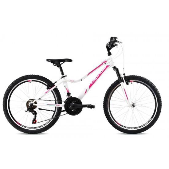 Bicicleta copii Capriolo Diavolo DX 24 inch alb-roz