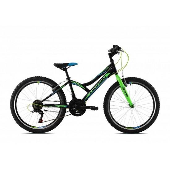 Bicicleta Capriolo Diavolo 24 inch verde-negru