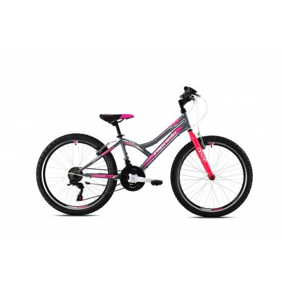 Bicicleta Capriolo Diavolo 24 inch gri-roz