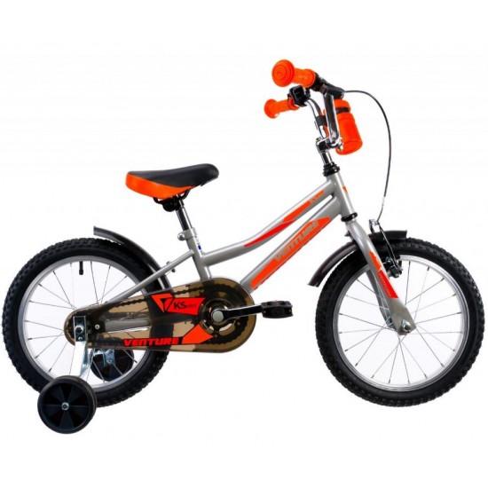 Bicicleta Venture KSeries 16 inch gri-orange