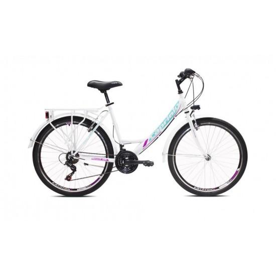 Bicicleta Capriolo Metropolis Lady 26 alba
