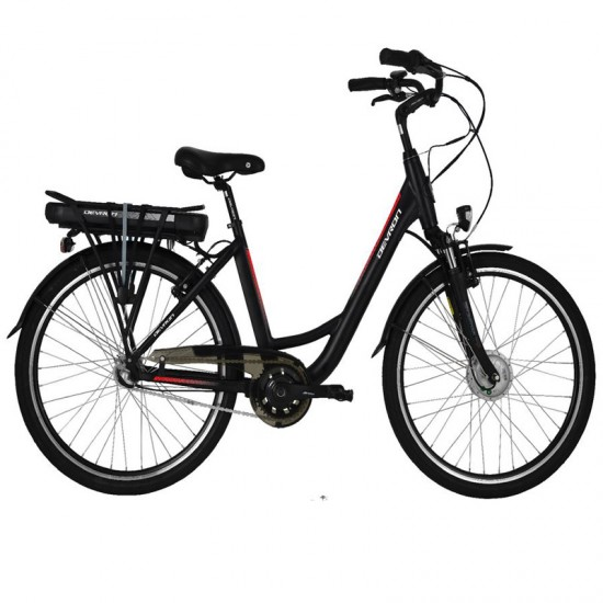 Devron City E-Bike 26120 - negru-roșu