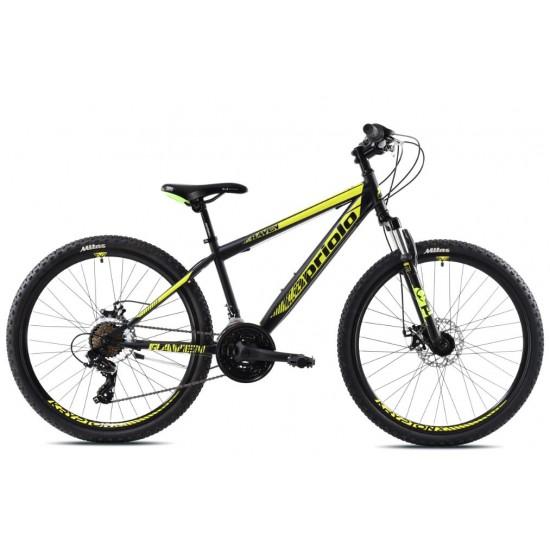 Bicicleta Capriolo Raven 26 inch negru-galben 38 cm