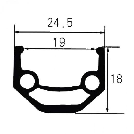 Janta aluminiu Ventura double 26 inch, 32H